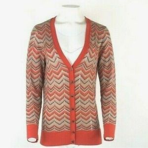 Loft Chevron Knit Cardigan